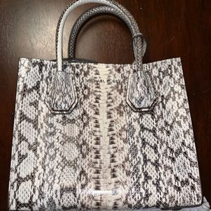 Michael Kors MD Messenger Bag Genuine Snake Skin
